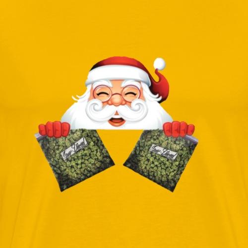 Santa with marijuana gifts