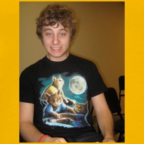 Ben w/ cat - Men's Premium T-Shirt