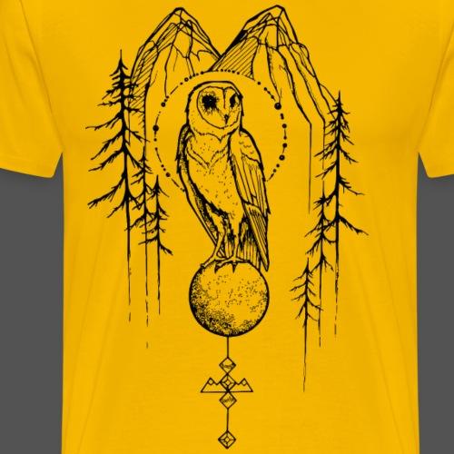 Owl Mountain - Fungi Faction - Men's Premium T-Shirt