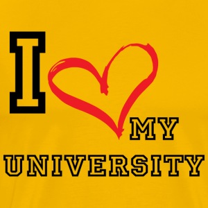 I_LOVE_MY_UNIVERSITY - Men's Premium T-Shirt