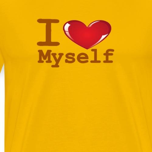 i Love Myself -Brown- Best Selling Design - Men's Premium T-Shirt