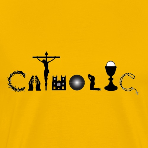 CATHOLIC -- SPELLED OUT FOR YOU! - Men's Premium T-Shirt