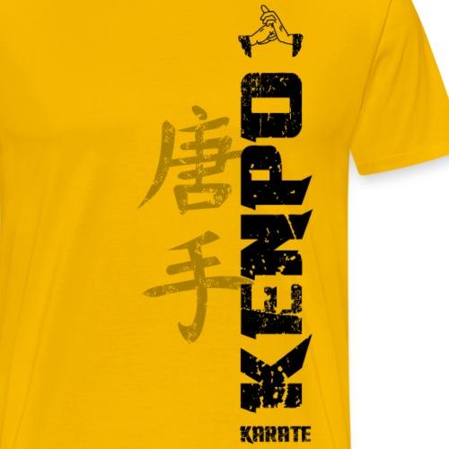 vertical kenpo with chinese kanji black - Men's Premium T-Shirt