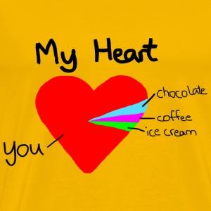 heart pie chart - Men's Premium T-Shirt