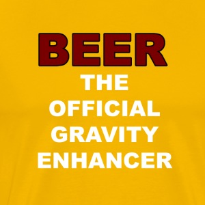 BEER Gravity Enhancer - Men's Premium T-Shirt
