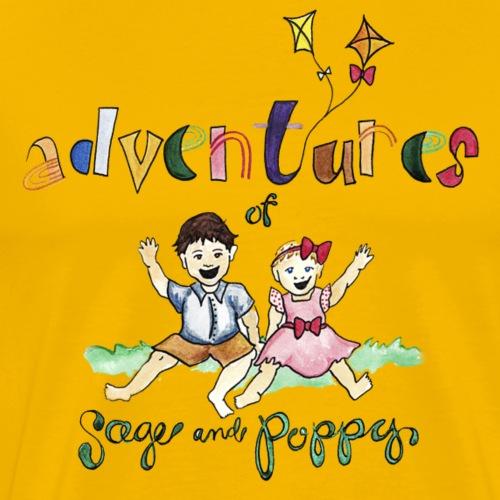 Adventures of Sage & Poppy square - Men's Premium T-Shirt