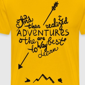 adventures are the best way to dream - Men's Premium T-Shirt