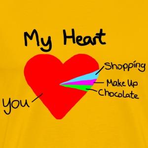 Heart Pie Chart Funny Love Gift Valentine - Men's Premium T-Shirt