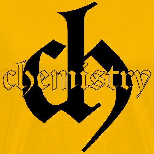Chemistry logo and word - black - Men's Premium T-Shirt