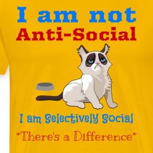 Funny I am not anti social I am Selectively social - Men's Premium T-Shirt