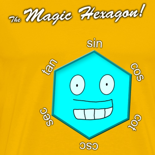 Magic Hexagon with name - Men's Premium T-Shirt