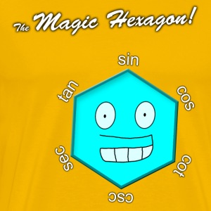 Magic Hexagon with name - Men's Premium T-Shirt