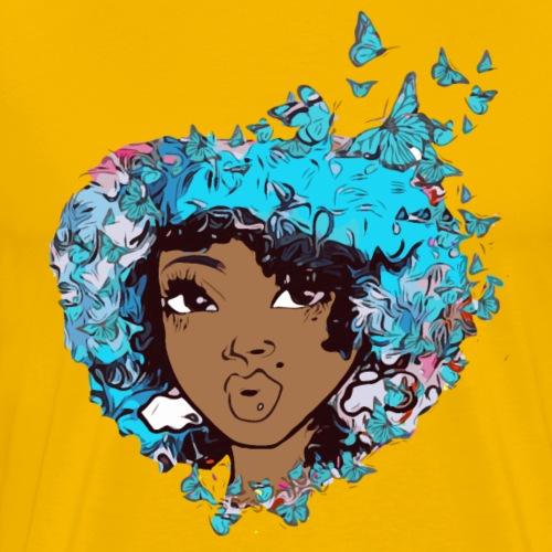 Butterfly Princess Girl - Men's Premium T-Shirt