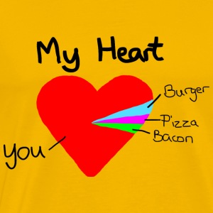 Heart Pie Chart Funny Valentine´s Day Gift Love - Men's Premium T-Shirt