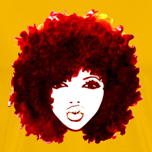 Red Autumn Attitude Natural hair Afro - Men's Premium T-Shirt