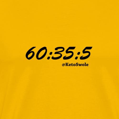 60 35 5 KetoSwole Macros - Men's Premium T-Shirt
