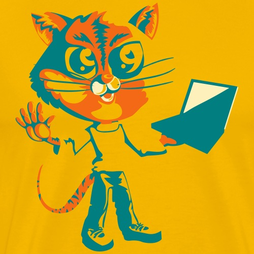 Colorful Cat - Men's Premium T-Shirt