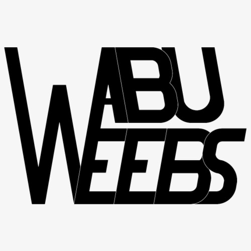 Abuweebs lettering (black) - Men's Premium T-Shirt