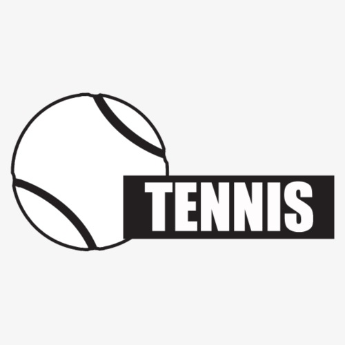 Tennis Block Text - Men's Premium T-Shirt