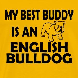 02 best buddy english bulldog copy - Men's Premium T-Shirt