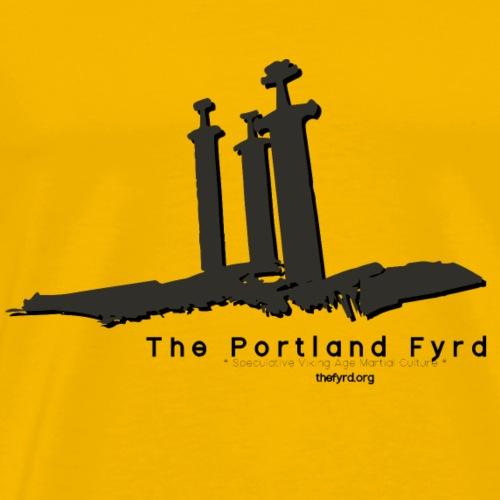Portland Fyrd Sverd i fjell - Men's Premium T-Shirt