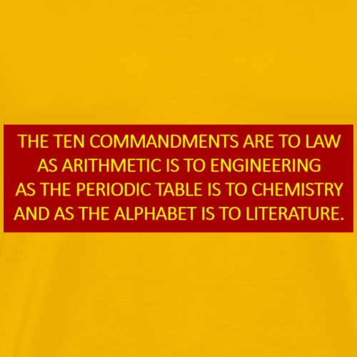 The ten commandments are to law as - Men's Premium T-Shirt