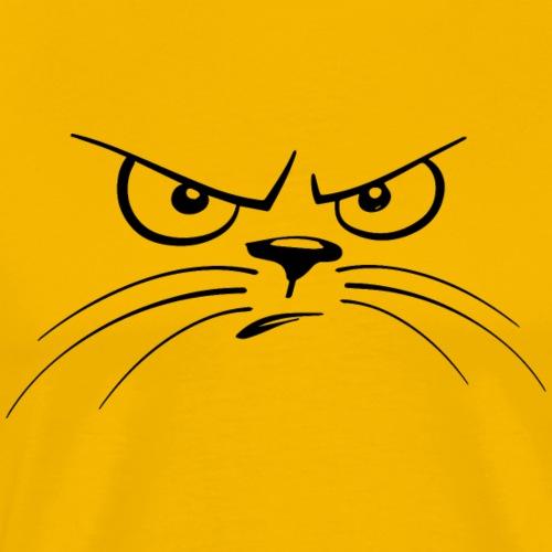 Angry cat T shirt Design Pet Animal Lovers T Shirt - Men's Premium T-Shirt