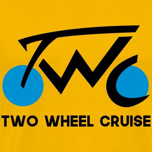 Two Wheel Cruise (black text) - Men's Premium T-Shirt