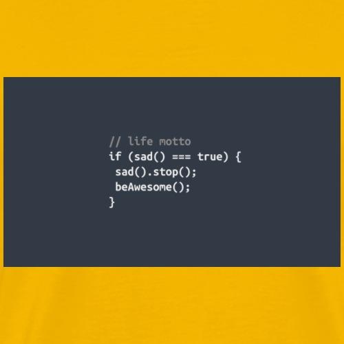 504957-awsome-code-jquery-minimalistic-programming - Men's Premium T-Shirt