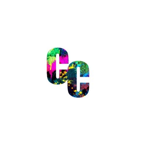 Paint Splatter Design w/ Slanted CC Logo - Men's Premium T-Shirt