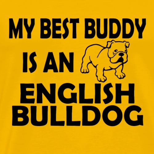 02 best buddy english bulldog copy - Men's Premium T-Shirt