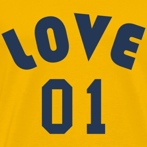 Love 01 - Team Design (Navy Blue Letters) - Men's Premium T-Shirt