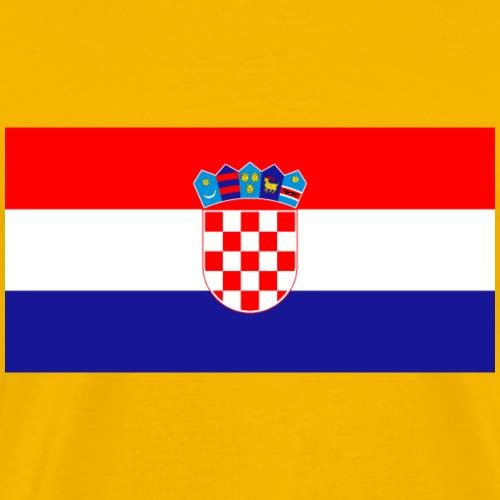 Flag of Croatia - Men's Premium T-Shirt