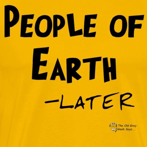 People of Earth (dark) - Men's Premium T-Shirt