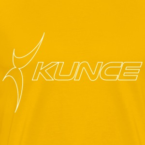 Kunce Original White Outline Logo - Men's Premium T-Shirt