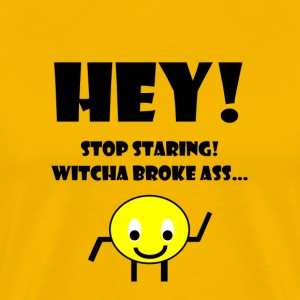 Stop Staring (Black) - Men's Premium T-Shirt