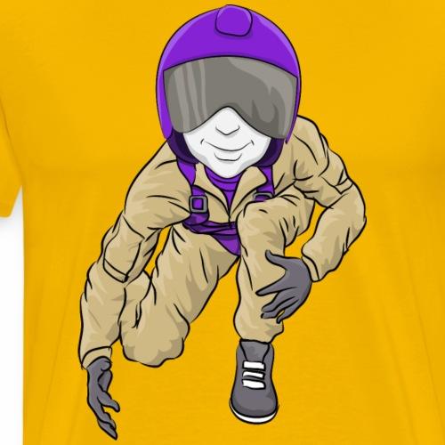 Custom Aviator Mascot - Wrestling - Men's Premium T-Shirt