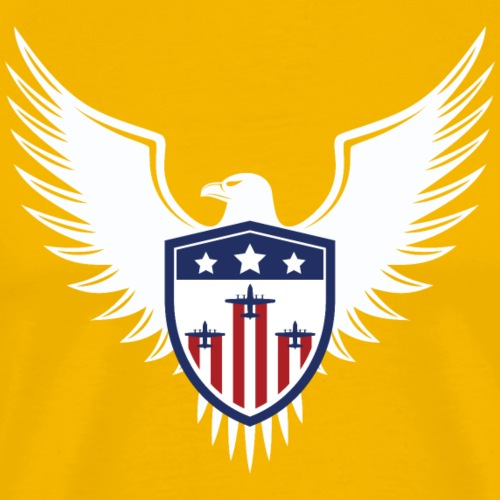 Patriotic Eagle Shield - Men's Premium T-Shirt