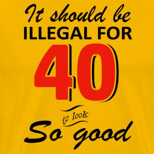 Funny 40th year old birthday designs - Men's Premium T-Shirt