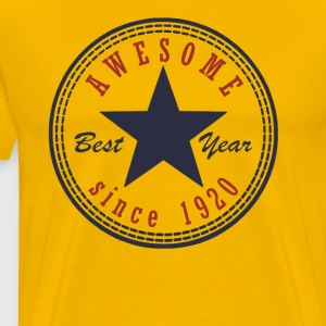 97th Birthday Awesome since T Shirt Made in 1920 - Men's Premium T-Shirt