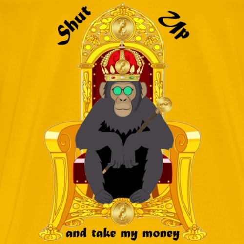 Bitcoin Monkey King - Shut Up And Take My Money - Men's Premium T-Shirt