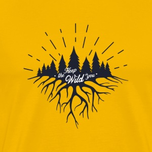 Keep the Wild in You T-shirts and Products - Men's Premium T-Shirt