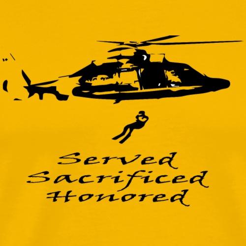 Coast Guard Served Sacrificed Honored - Men's Premium T-Shirt