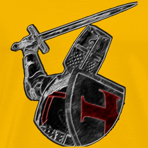 Crusader black and Red - Men's Premium T-Shirt