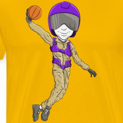 Custom Aviator mascot - Basketball - Men's Premium T-Shirt
