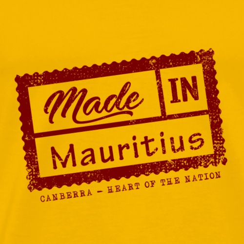 Stamp Made in Mauritius - Canberra - Men's Premium T-Shirt