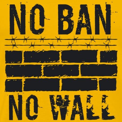 No Ban No Wall black - Men's Premium T-Shirt