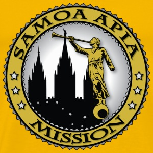 Samoa Apia Mission - LDS Mission Classic Seal Gold - Men's Premium T-Shirt