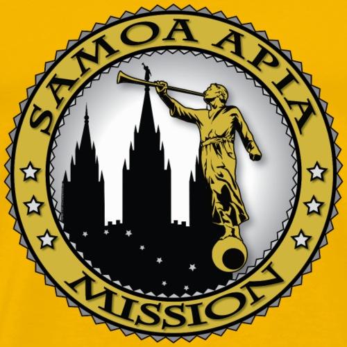 Samoa Apia Mission - LDS Mission Classic Seal Gold - Men's Premium T-Shirt