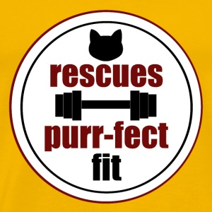 Rescues are purr-fect fit in red - Men's Premium T-Shirt